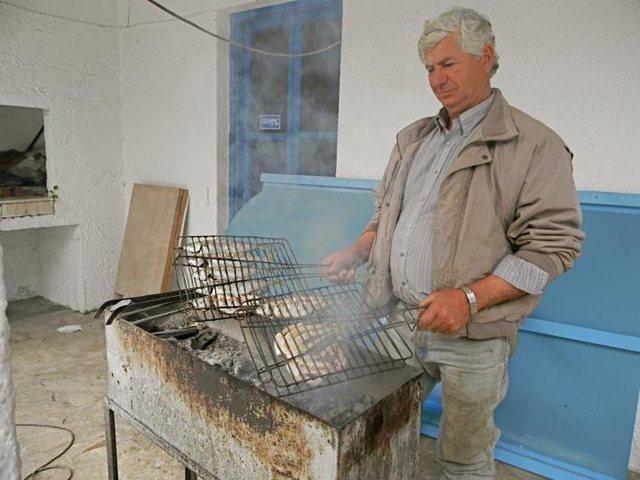 Local sea food prepared by a local.
