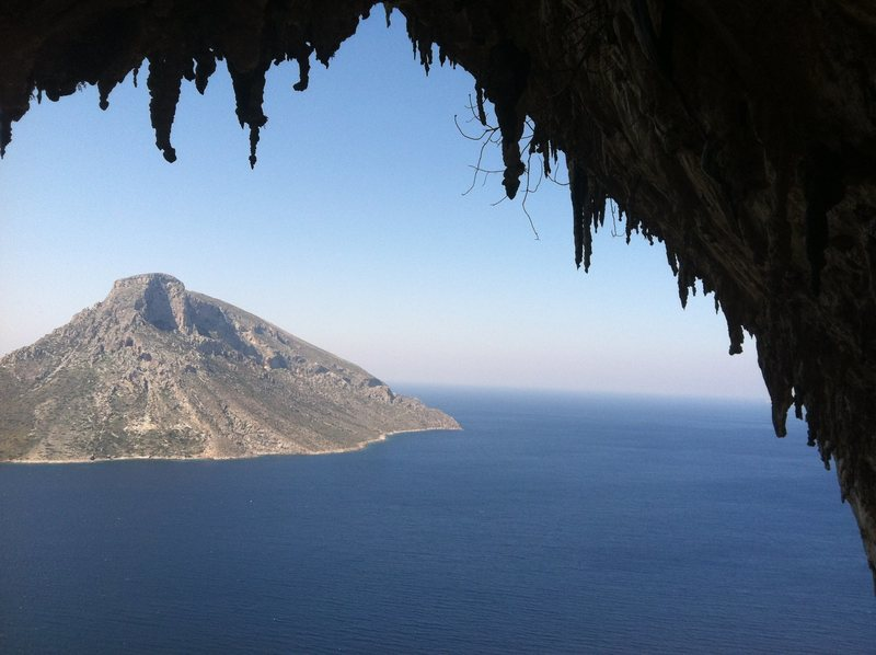 looking out the Grotta