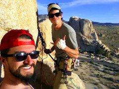 "Rock Climbing Photo: At the ""bathtub"" belay atop Double Cross"