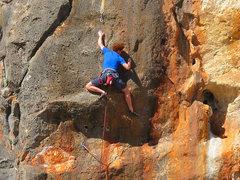 Rock Climbing Photo: SPOILER ALERT!  Me @ the crux.