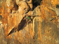 Rock Climbing Photo: Close-up of Jared G. on Asuqui.