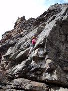 Rock Climbing Photo: Dave Rogers gliding up the climb.