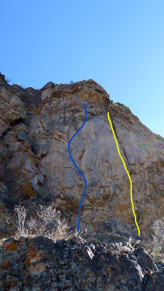 Rock Climbing Photo: The blue line.