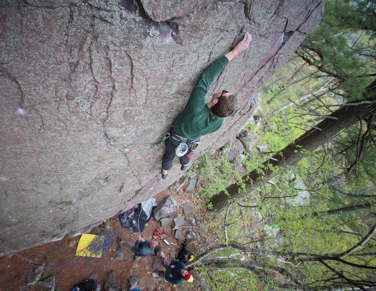 Rock Climbing Photo: Stewart cruxing above a 000 C3
