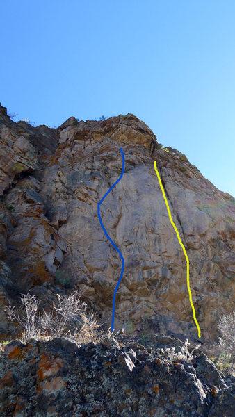 Rock Climbing Photo: Yellow line.