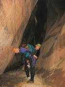 Rock Climbing Photo: Karen, and Jen, the two-headed monster.    It was ...