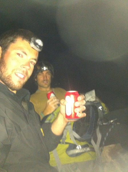 On top the 1st Flit Iron with Taylor at 4:45am  . . .