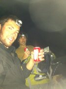 Rock Climbing Photo: On top the 1st Flit Iron with Taylor at 4:45am  . ...