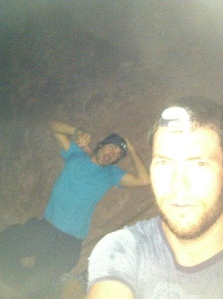 Rock Climbing Photo: Starting the 1st Flat Iron at 1:45am with Taylor ....