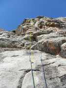 Rock Climbing Photo: Back to Bucket Country route and bolt location.