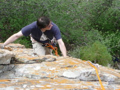 Rock Climbing Photo: Me on second of the first pitch.