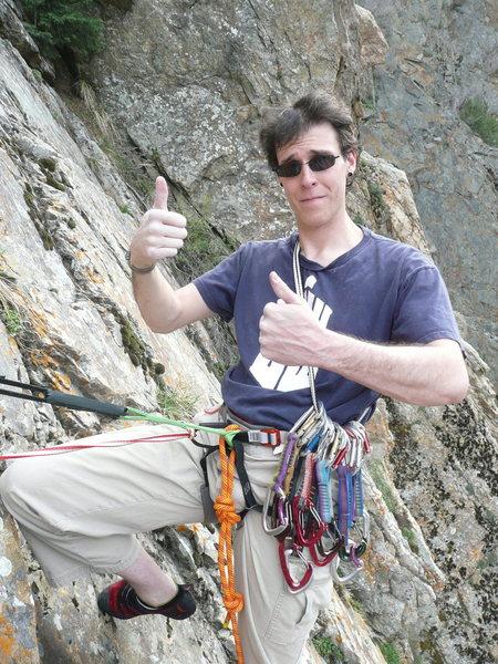 Rock Climbing Photo: The hero shot.