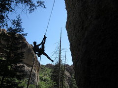 Rock Climbing Photo: on the repel...