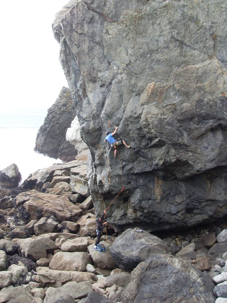 Rock Climbing Photo: Setting the 4th