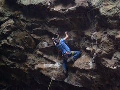 Rock Climbing Photo: Getting to the 2nd