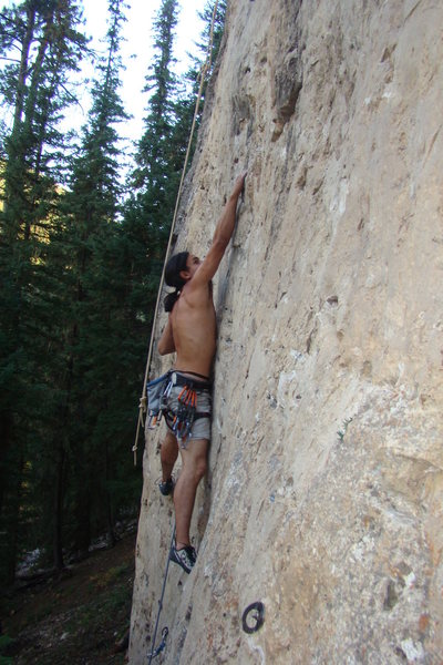 Rock Climbing Photo: Inhale. Exhale. Huck to two finger pocket to two f...