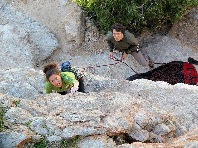 Rock Climbing Photo: Steph & Jared on Tom & Jerry.