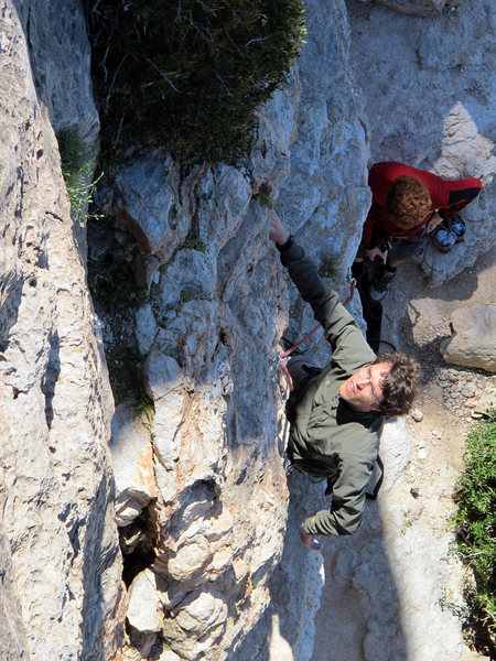Rock Climbing Photo: Jared on Tom & Jerry.