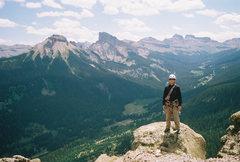 Rock Climbing Photo: Summit shot, I'm stoked.  John photo.