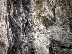 Rock Climbing Photo: A Quebec'er climbing Black Mamba before driving ho...