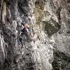 A Quebec'er climbing Black Mamba before driving home. <br> <br> www.bagleyheavybags.blogspot.com