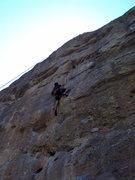 Rock Climbing Photo: Jon climbs this difficult line so smoothly.