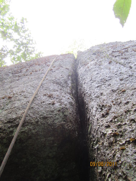 Rock Climbing Photo: upper crack.