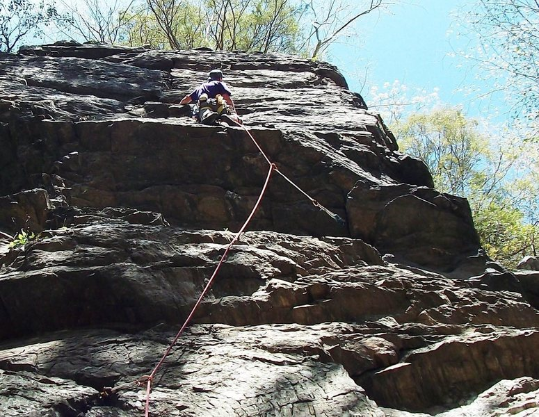 Rock Climbing Photo: Pull the roof then punch it to the top!