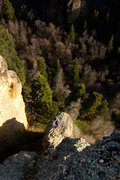 Rock Climbing Photo: Jason Stevens atop the tower on the second pitch o...