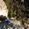 Jason Stevens tops out on the last pitch of <em>The Dizzy Channel</em>.