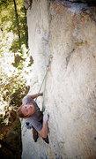 Rock Climbing Photo: Stetzer getting the FA