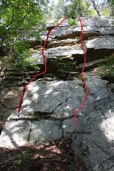 Rock Climbing Photo: Day Shift Dancer, Jamestown, AL.