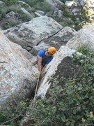 Rock Climbing Photo: Sam Haugen, locker hands and loving it