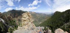 Rock Climbing Photo: The descent block, pano.