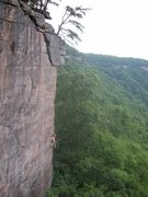 Rock Climbing Photo: Bullet the New Sky (New River Gorge)