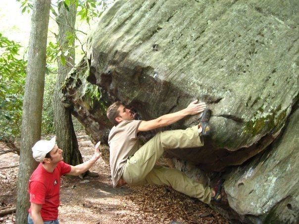 Bouldering at Cooper's Rock