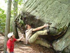 Rock Climbing Photo: Bouldering at Cooper's Rock