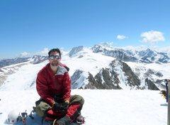 Rock Climbing Photo: 18,189ft - summit of Janko Huyo, Bolivia
