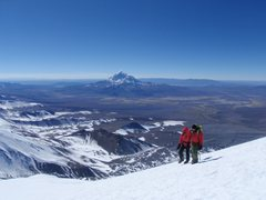 Rock Climbing Photo: En route to the summit of Parnicota, 20,807ft stra...