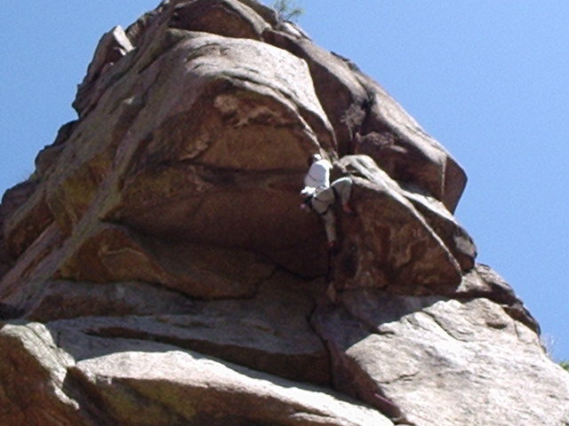 Rock Climbing Photo: Getting down with the business....