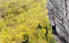 Rock Climbing Photo: Leading High E...chillin'