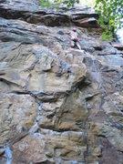 Rock Climbing Photo: Good climb.  Look about 3-4 feet below my feet... ...