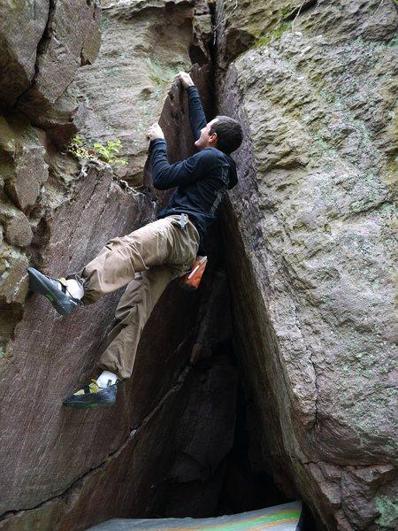 Rock Climbing Photo: Dirty topout.