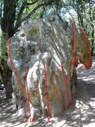 Rock Climbing Photo: Please help me identify these problems.  C - Unkno...