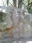 Rock Climbing Photo: Please help me identify these problems.  I - Unkno...