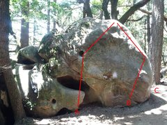 Rock Climbing Photo: Please help me identify these problems.  A - The S...