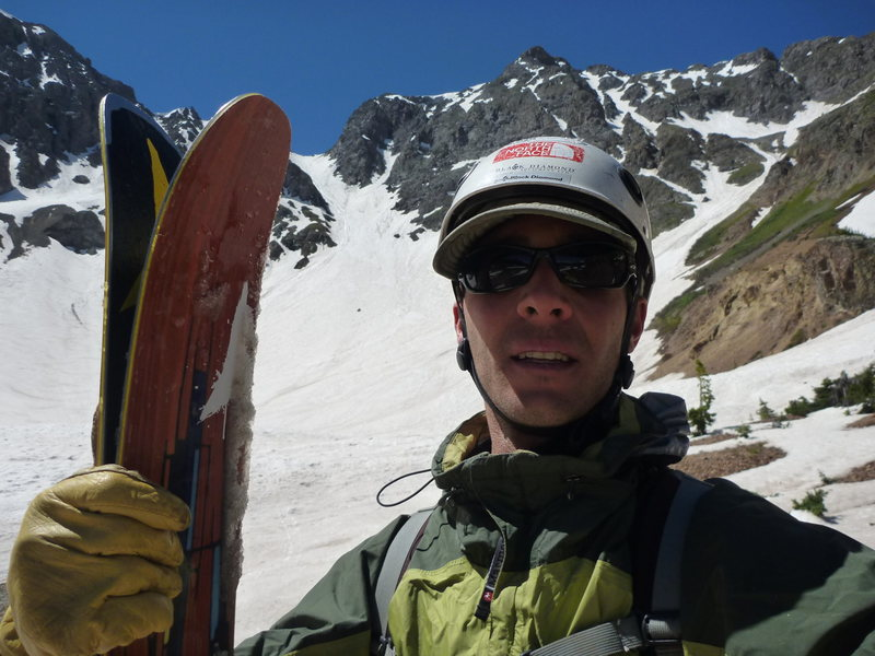 Summer skiing in Velocity Basin