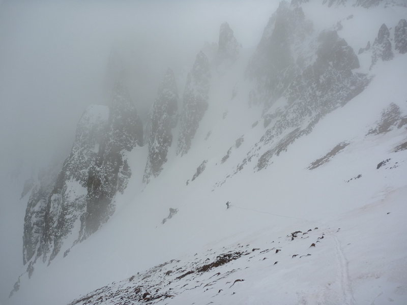 Rock Climbing Photo: skinning the north side of Sneffels