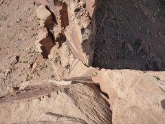 Rock Climbing Photo: Lookin down Thumbelina @ Carson