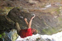Rock Climbing Photo: Matt Giossi - about halfway through